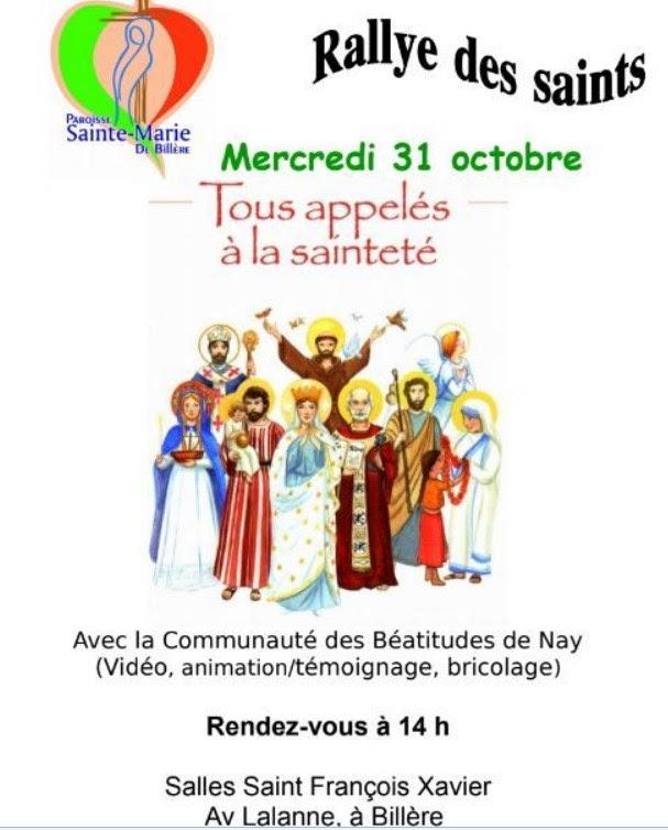 """""""Rallye des Saints"""" de la paroisse Sainte Marie de Billère (64) le 31 octobre 2018"""