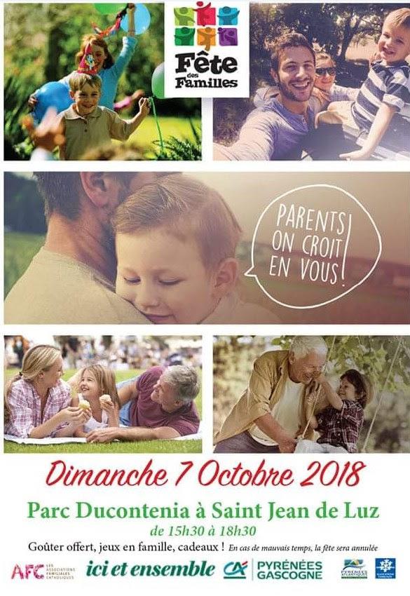 """""""Fête des familles"""" avec les AFC le 7 octobre 2018 à Saint-Jean-de-Luz (64)"""