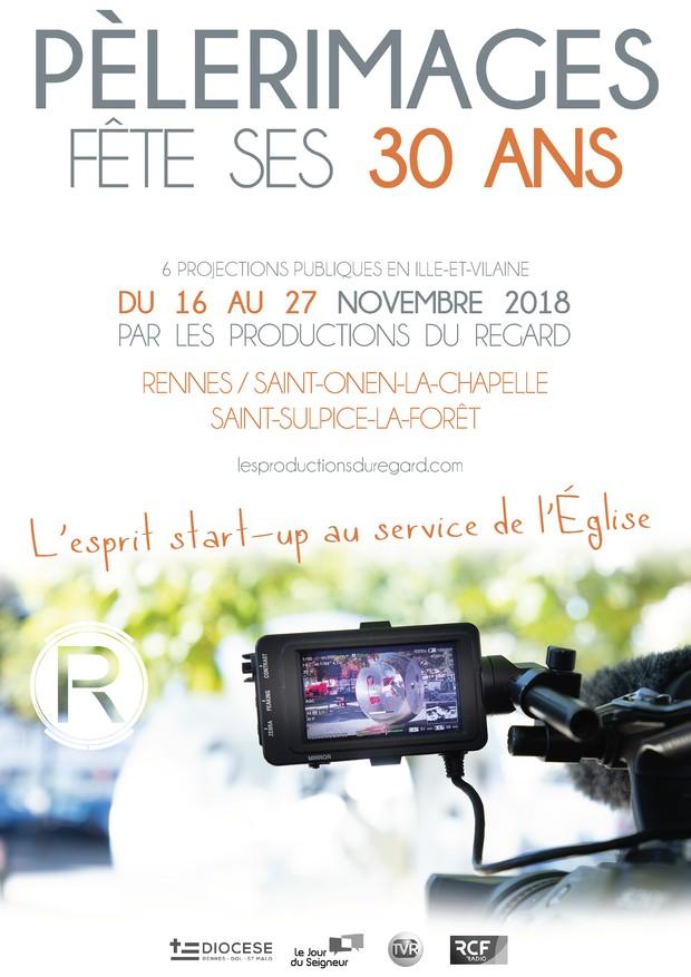 Le magazine TV Pèlerimages fête ses 30 ans par une série de projections du 16 au 27 novembre 2018 à travers l'Ille-et-Vilaine (35)