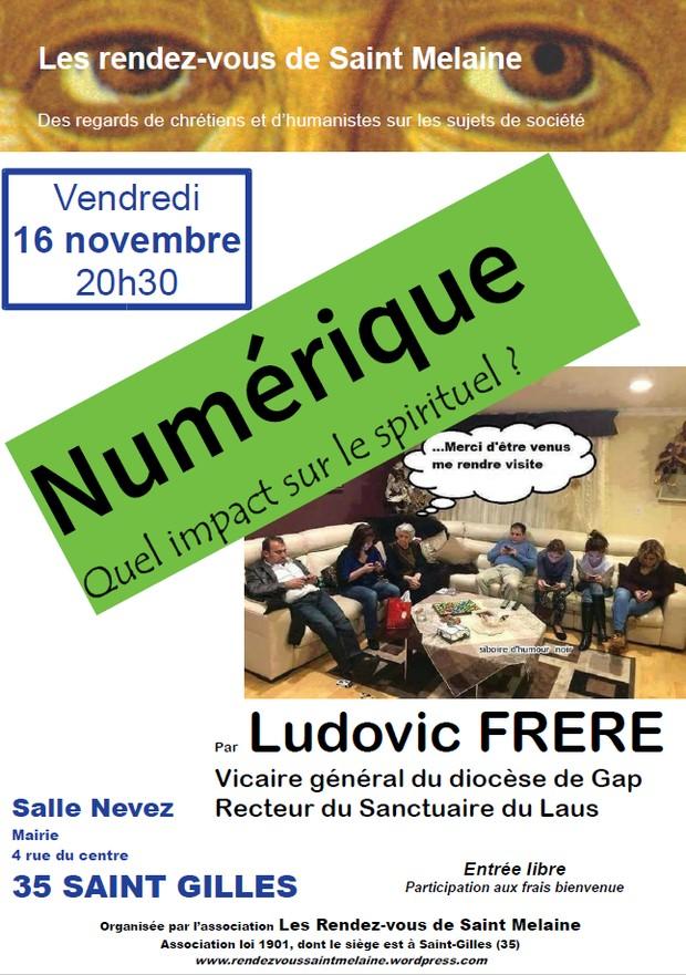 Numérique: quel impact sur le spirituel? Conférence avec le Père Ludovic Frère le 16 novembre à Saint-Gilles (35)