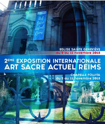 """""""Paix des hommes, paix de Dieu"""", une exposition internationale d'Art Sacré Actuel, du 5 au 11 novembre 2018 à Reims (51)"""