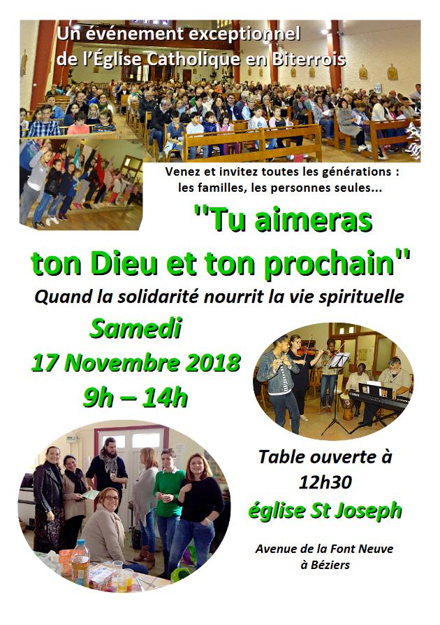 Rencontre inter-générationnelle pour Béziers (34) et le littoral à St Joseph (la Fontneuve) le 17 novembre 2018