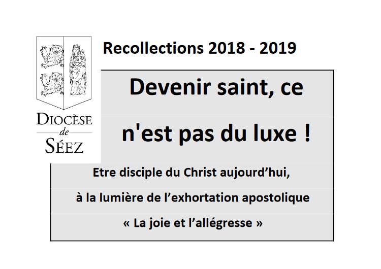 Récollection pour tous, sur la sainteté – Le 4 décembre 2018 à Flers (61)