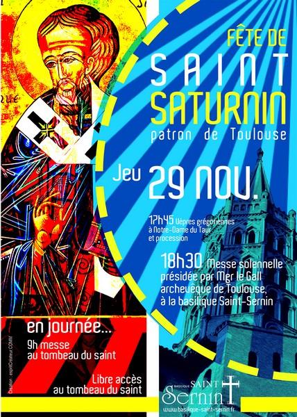 Fête de la Saint-Saturnin, messe à la basilique Saint-Sernin à Toulouse (31), le 29 novembre 2018