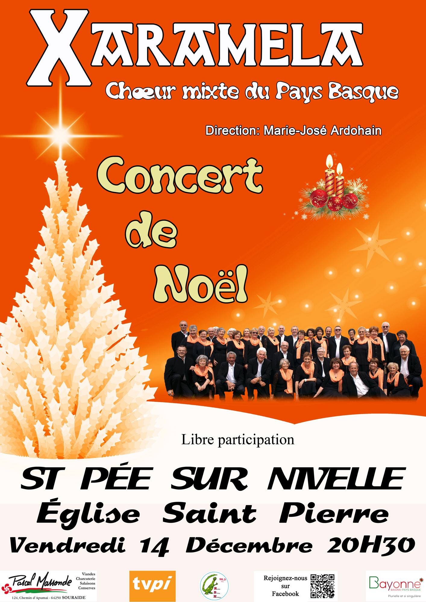Concert de Noël du Choeur Xaramela le 14 décembre 2018 à Saint-Pée-sur-Nivelle (64)