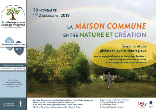 La «maison commune» entre nature et création – 30 novembre 1er et 2 décembre 2018 à Vion (72)