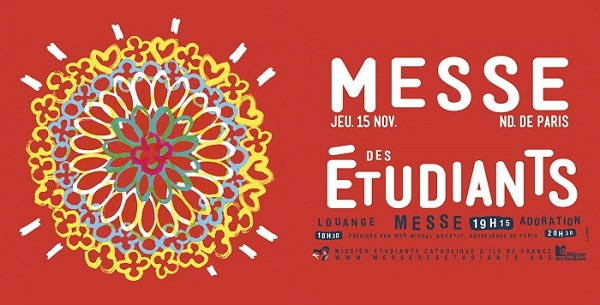 Messe des étudiants (louange, messe, veillée de prière) d'Île-de-France le 15 novembre 2018 à Paris