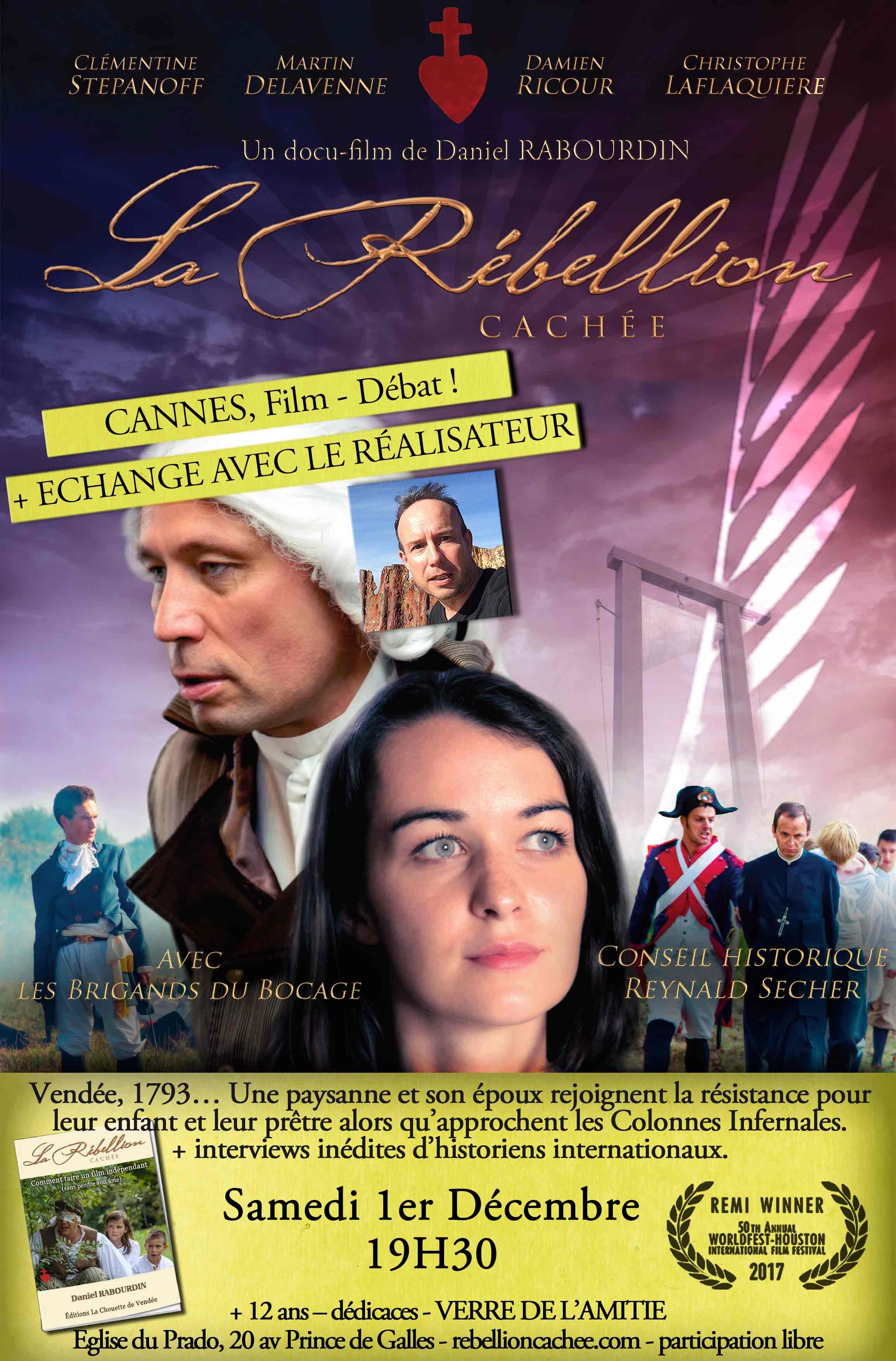 Projection du film La rébellion cachée en présence du réalisateur le 1er décembre 2018 à Cannes (06)