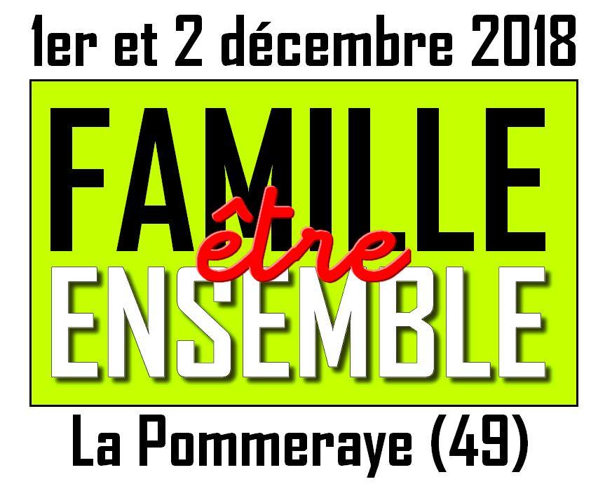 1 et 2 décembre 2018: Week-end «Être famille ensemble» avec les Focolari à la Pommeraye (49)