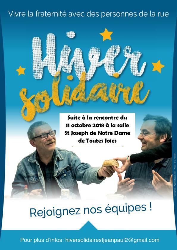 Hiver solidaire: depuis 10 ans à Paris, aujourd'hui à Nantes!