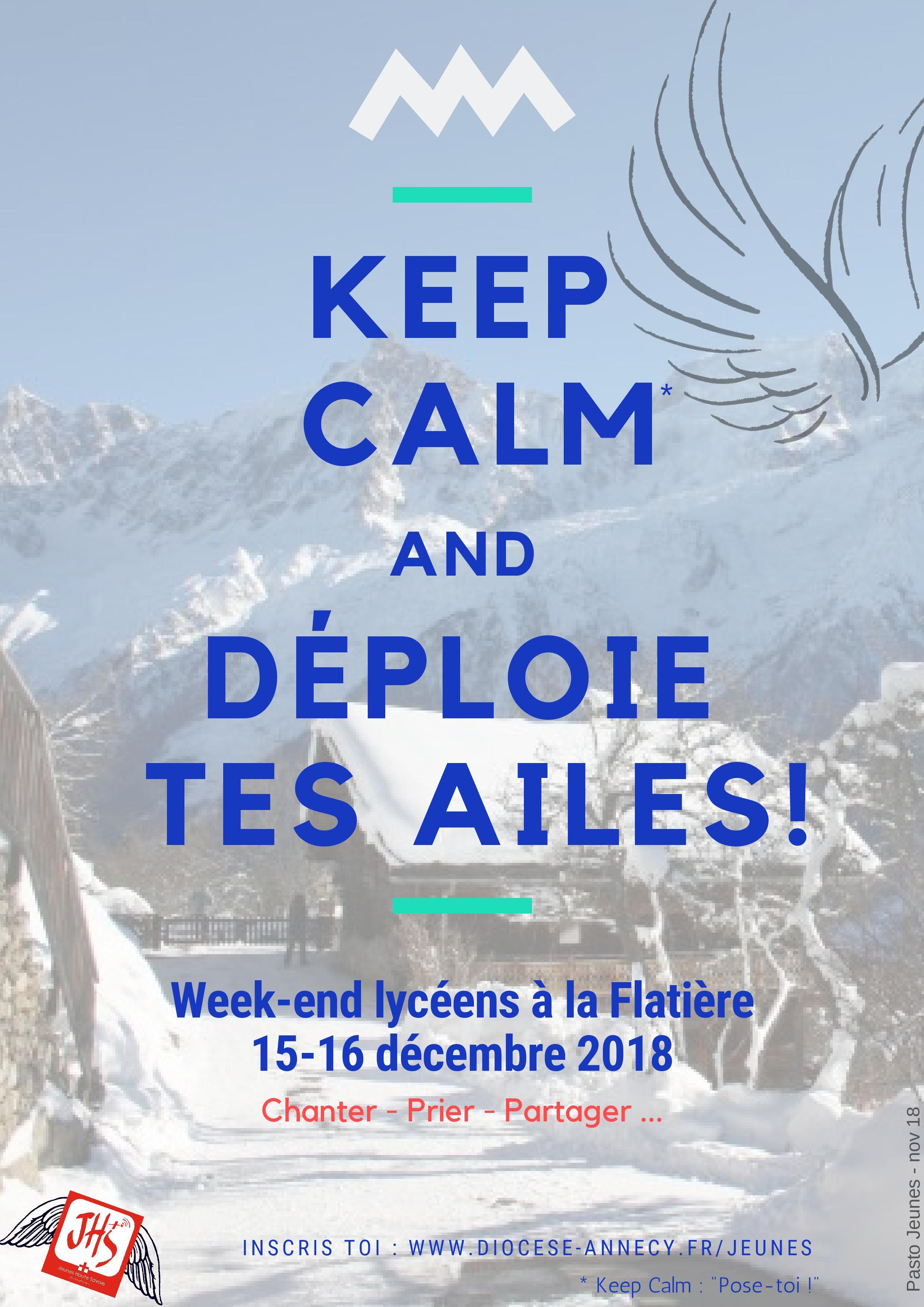 Week-end lycéens à la Flatière (74) les 15 & 16 décembre 2018