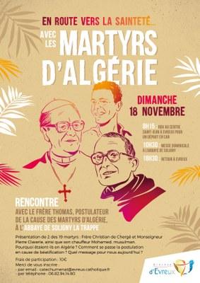 En route vers la sainteté avec les Martyrs d'Algérie – 18 novembre 2018 à Soligny-la-Trappe (61)