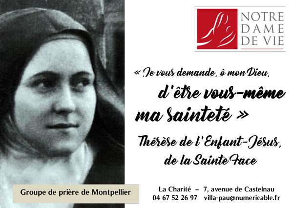 Groupe de prière Notre Dame de Vie – 1ère rencontre le 19 novembre 2018 à Montpellier (34)