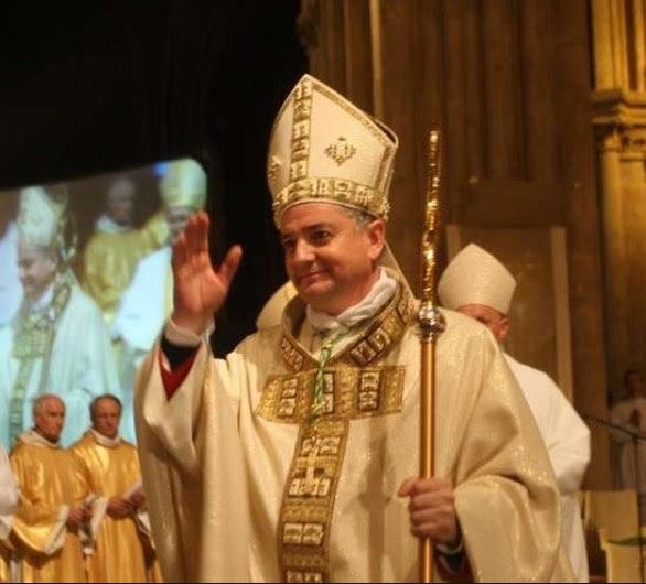 Messe pour le 10ème anniversaire d'épiscopat de Mgr Marc Aillet le 2 décembre 2018 à Bayonne (64)