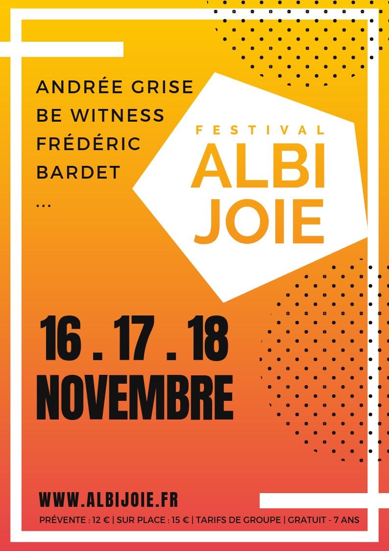 Festival Albi JOIE du 16 au 18 novembre 2018 à Albi (81)