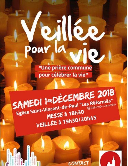 Veillée pour la vie le 1er décembre 2018 à Marseille (13)