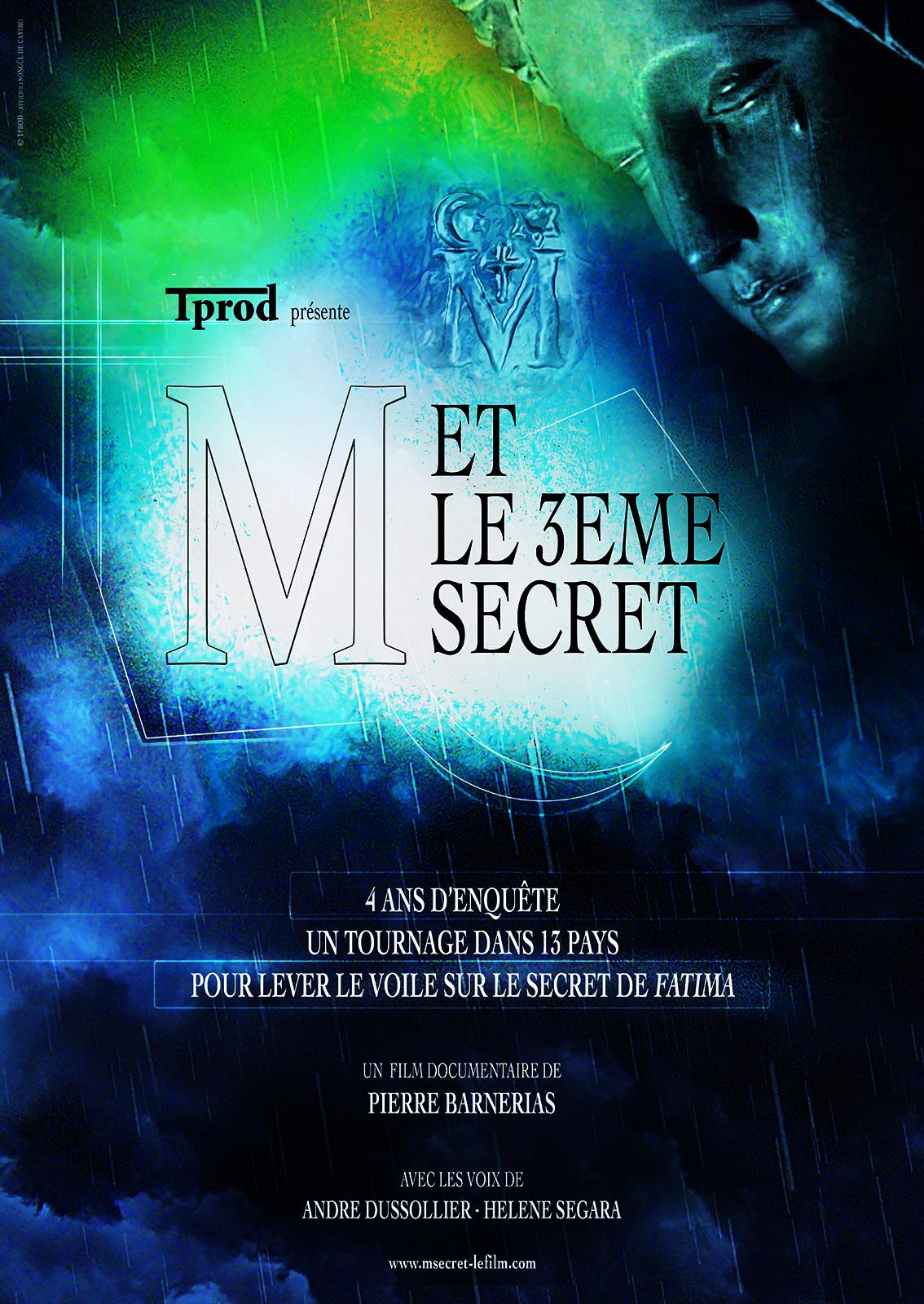 """Soirée témoignages autour du film """"M et le 3ème secret"""" le 13 décembre 2018 à Bayonne (64)"""