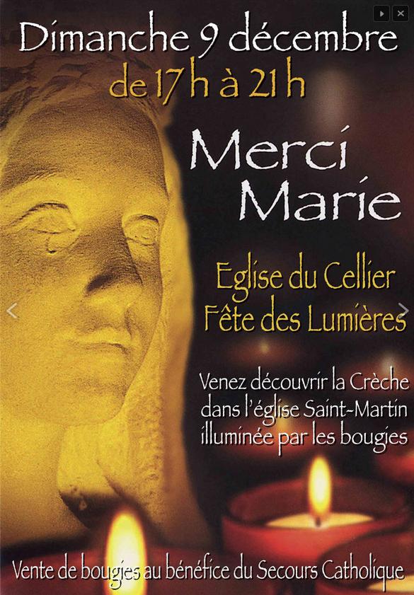 9 décembre 2018: Fête des Lumières en l'église Saint-Martin du Cellier (44)