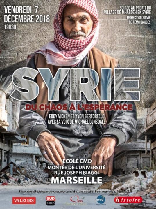 Projection du film «Syrie. Du chaos à l'espérance» le 7 décembre 2018 à Marseille (13)