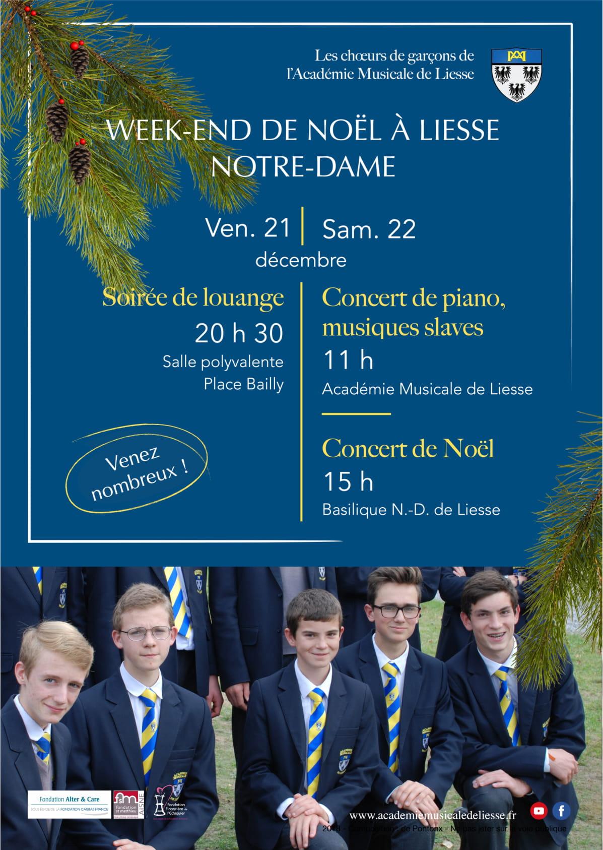 Week-end de Noël les 21 & 22 décembre 2018 à Liesse-Notre-Dame (02) – Académie Musicale de Liesse