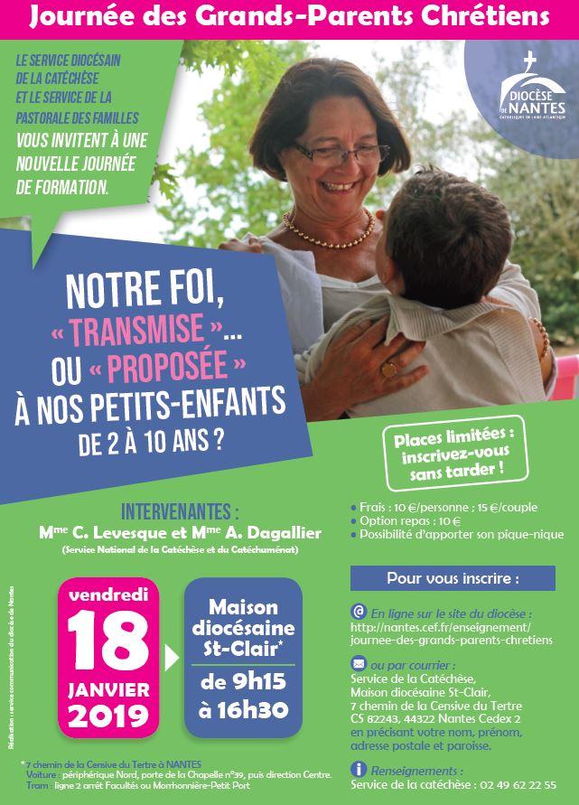 18 janvier 2019: Journée des grands-parents chrétiens à Nantes (44)