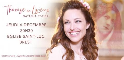 Concert de Natasha St-Pier à l'église Saint-Luc de Brest (29) le 6 décembre 2018