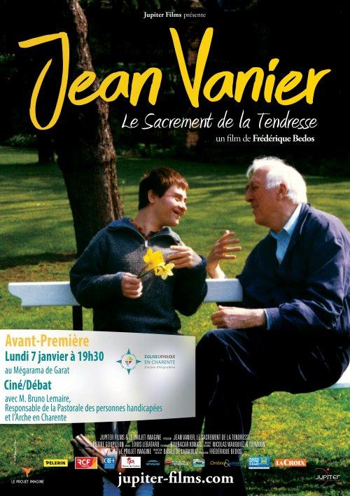 Jean Vanier: le sacrement de la tendresse – Projection en avant première du film le 7 janvier 2019 à Garat (16)