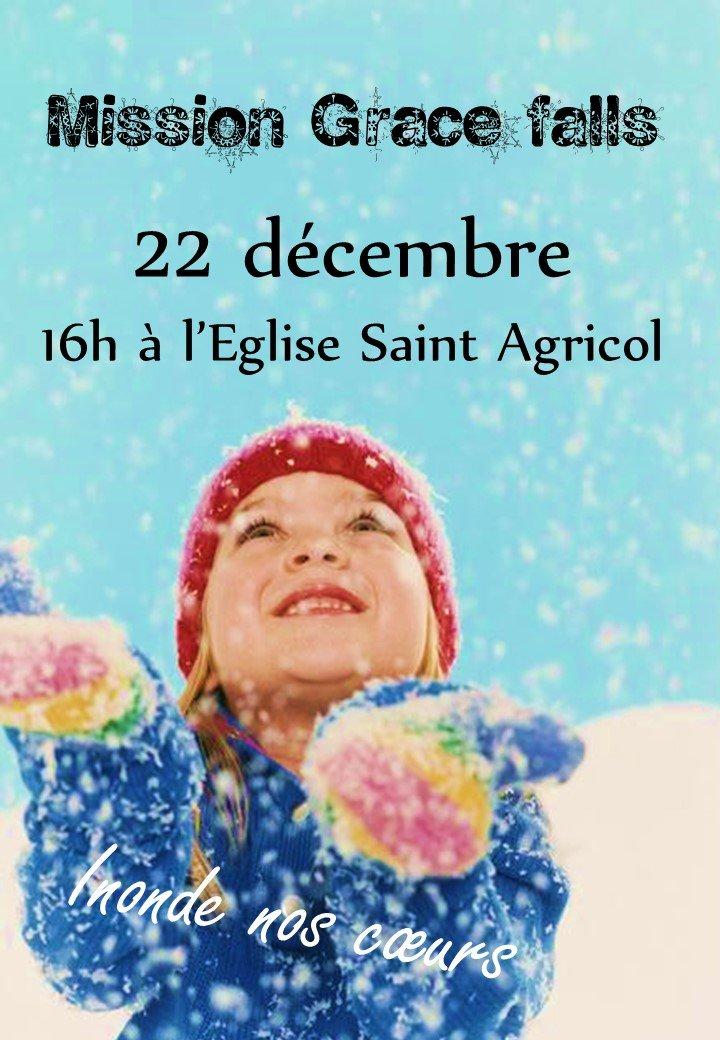Mission Noël «Grace falls» le 22 décembre 2018 à Avignon (84)