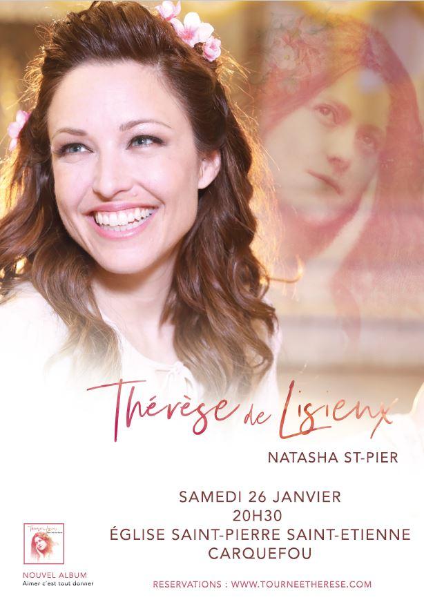 25 et 26 Janvier 2019: Natasha St-Pier chante Sainte Thérèse de Lisieux à Châteaubriant (44)