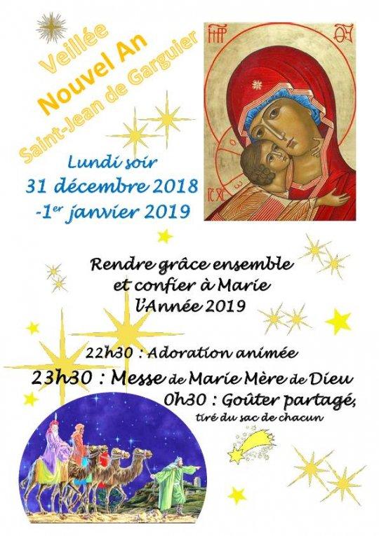 Veillée du Nouvel An à Saint-Jean-de-Garguier (Gémenos (13) ) le 31 décembre 2018