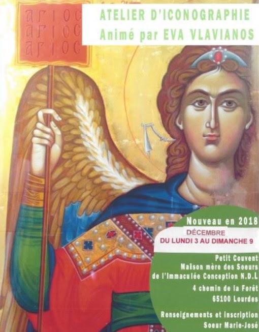 Stage atelier d'Iconographie à Lourdes (65) du 3 au 9 décembre 2018