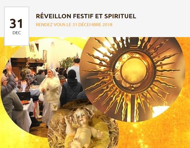 Réveillon festif et spirituel avec la Communauté des Béatitudes de Nay (64) le 31 décembre 2018