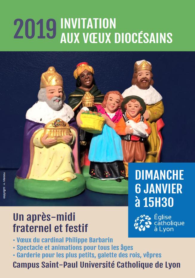 Voeux du diocèse de Lyon (69) le 6 janvier 2019