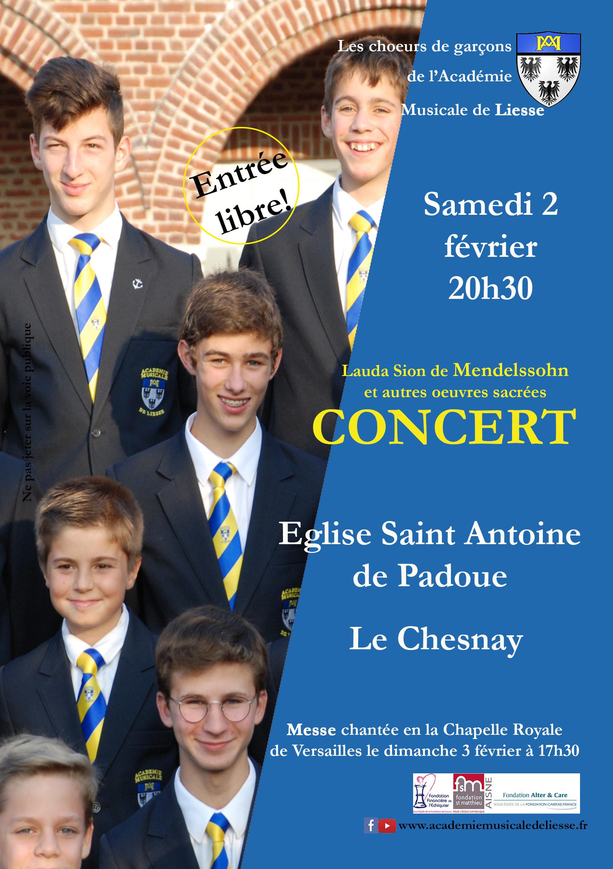 Concert de l'Académie Musicale de Liesse au Chesnay (78) le 2 février 2019