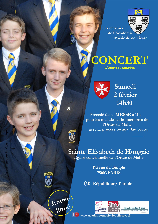 Concert en l'église Sainte Elisabeth de Hongrie – Académie Musicale de Liesse le 2 février 2019 à Paris