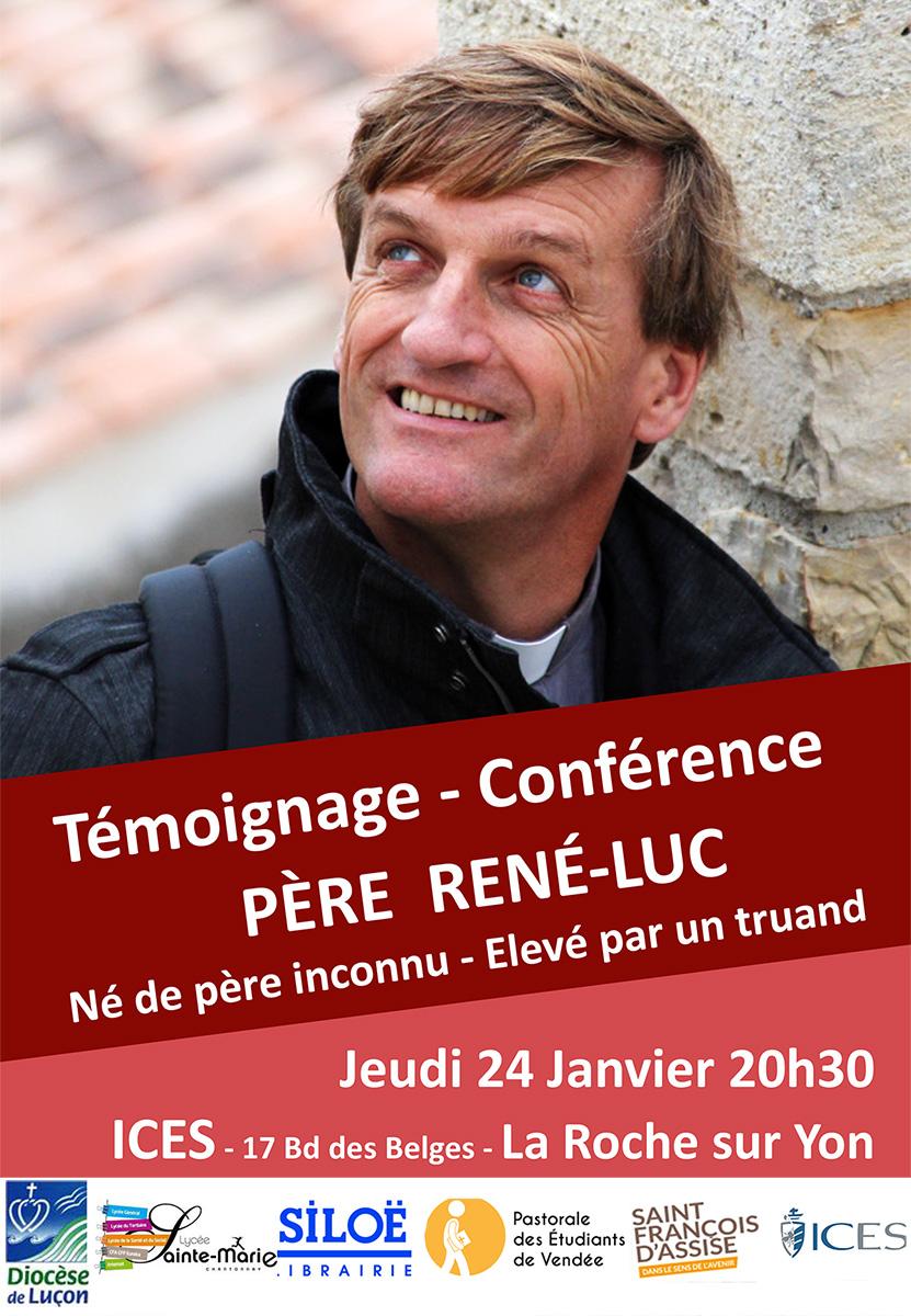 Témoignage – conférence du Père René-Luc le 24 janvier 2019 à La-Roche-Sur-Yon (85)