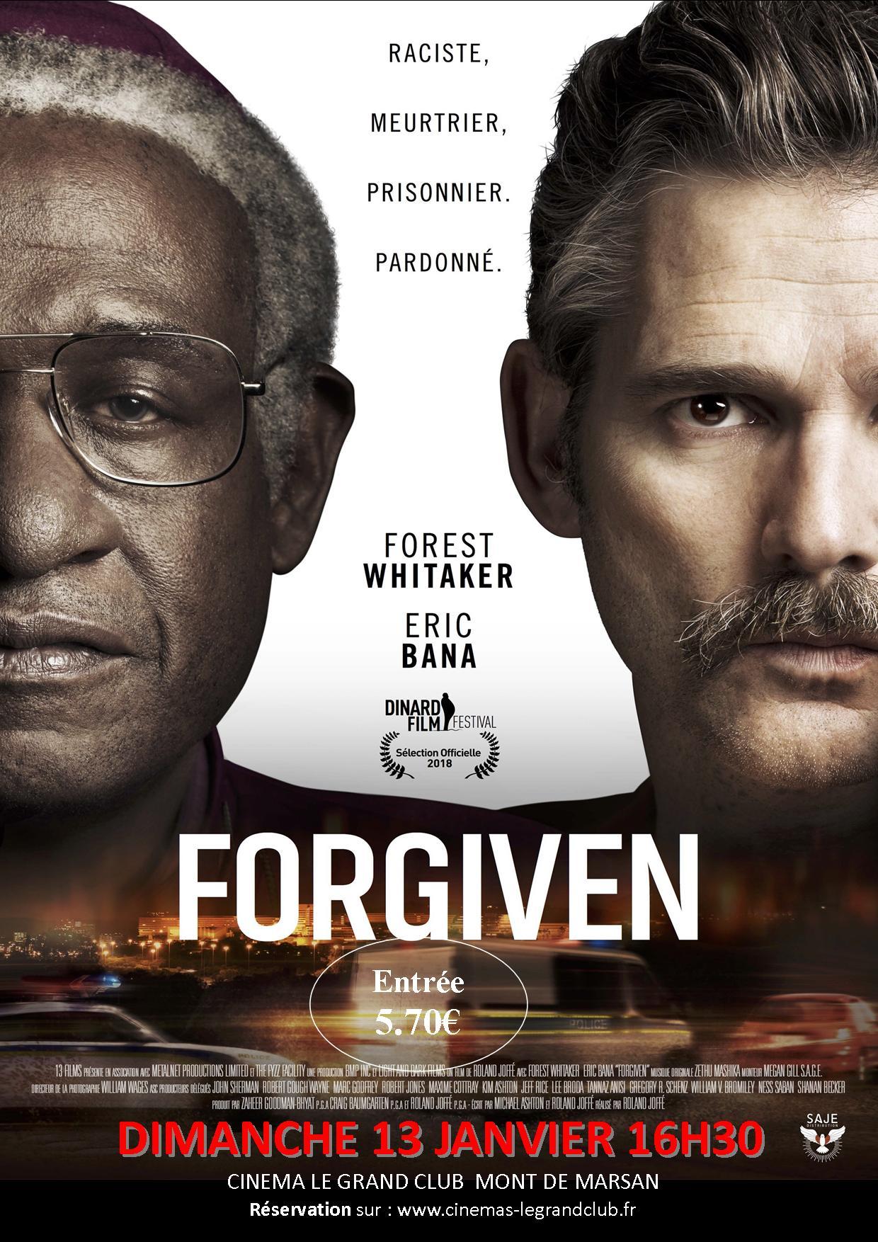 Projection du film Forgiven le 13 janvier 2019 à Mont-de-Marsan (40)