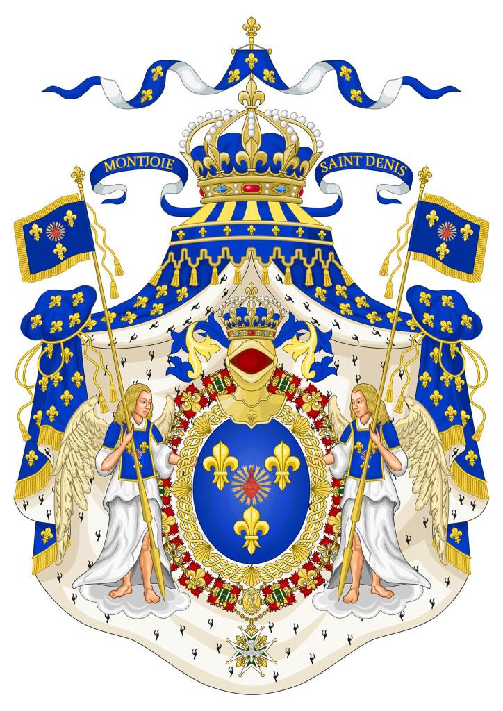 Un mois avant sa mort, le Comte de Paris modifiait les armoiries de la France en y ajoutant le Sacré Coeur de Jésus