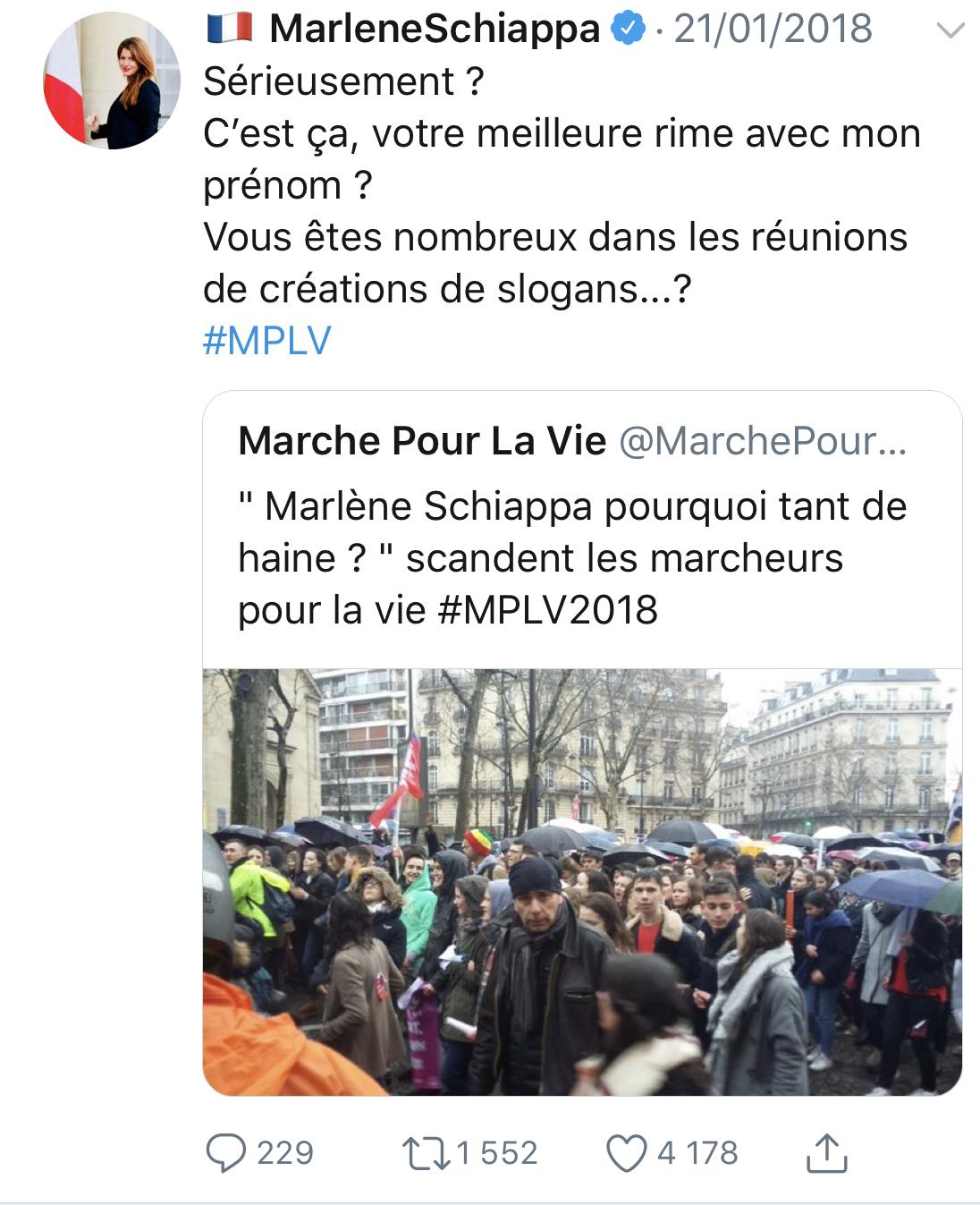 Marlène Schiappa et la Marche pour la vie