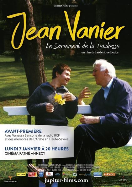 Projection en avant-première du film Jean Vanier – Le sacrement de la tendresse – le 7 janvier 2019 à Annecy (74)