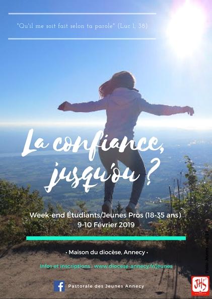 Weekend Jeunes pros du 9-10 février 2019 à Annecy (74)