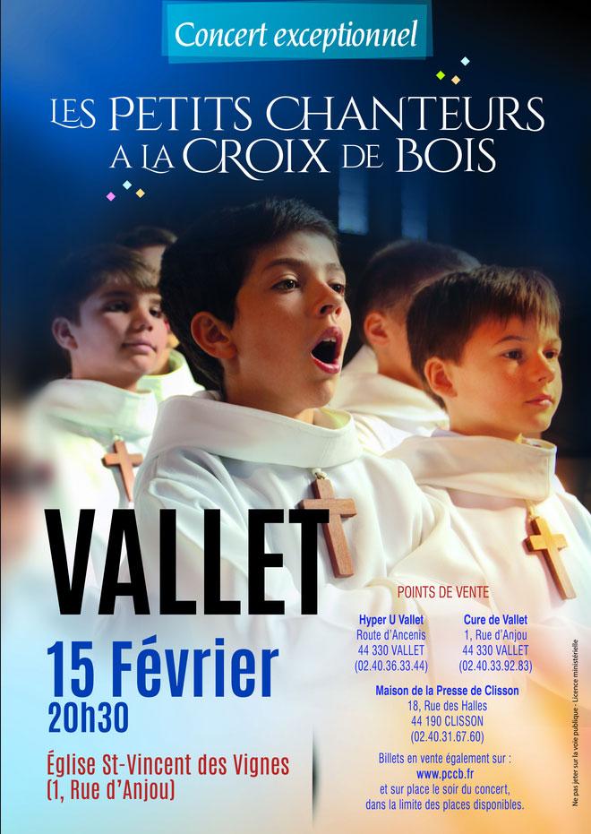 15 février 2019: Les petits chanteurs à la Croix de Bois à Vallet (44)