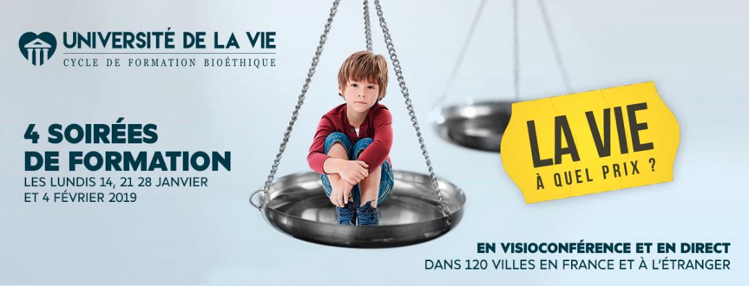 4 soirées de formation proposées par l'Université de la Vie partout en France au même moment!