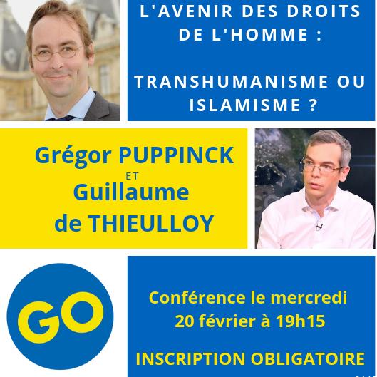 L'avenir des droits de l'homme: Transhumanisme ou islamisme? – Conférence le 20 février 2019 à Paris