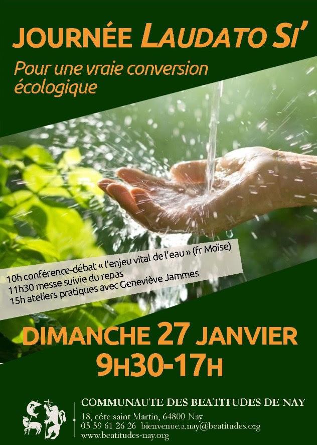"""Journée """"Laudato Si' – Pour une vraie conversion écologique"""" le 27 janvier 2019 à Nay (64)"""