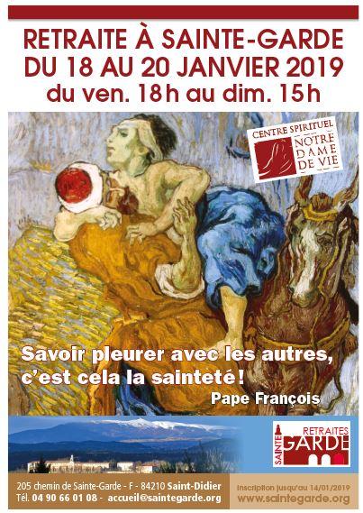 Retraite à Notre Dame de Sainte Garde (84) du 18 au 20 janvier 2019