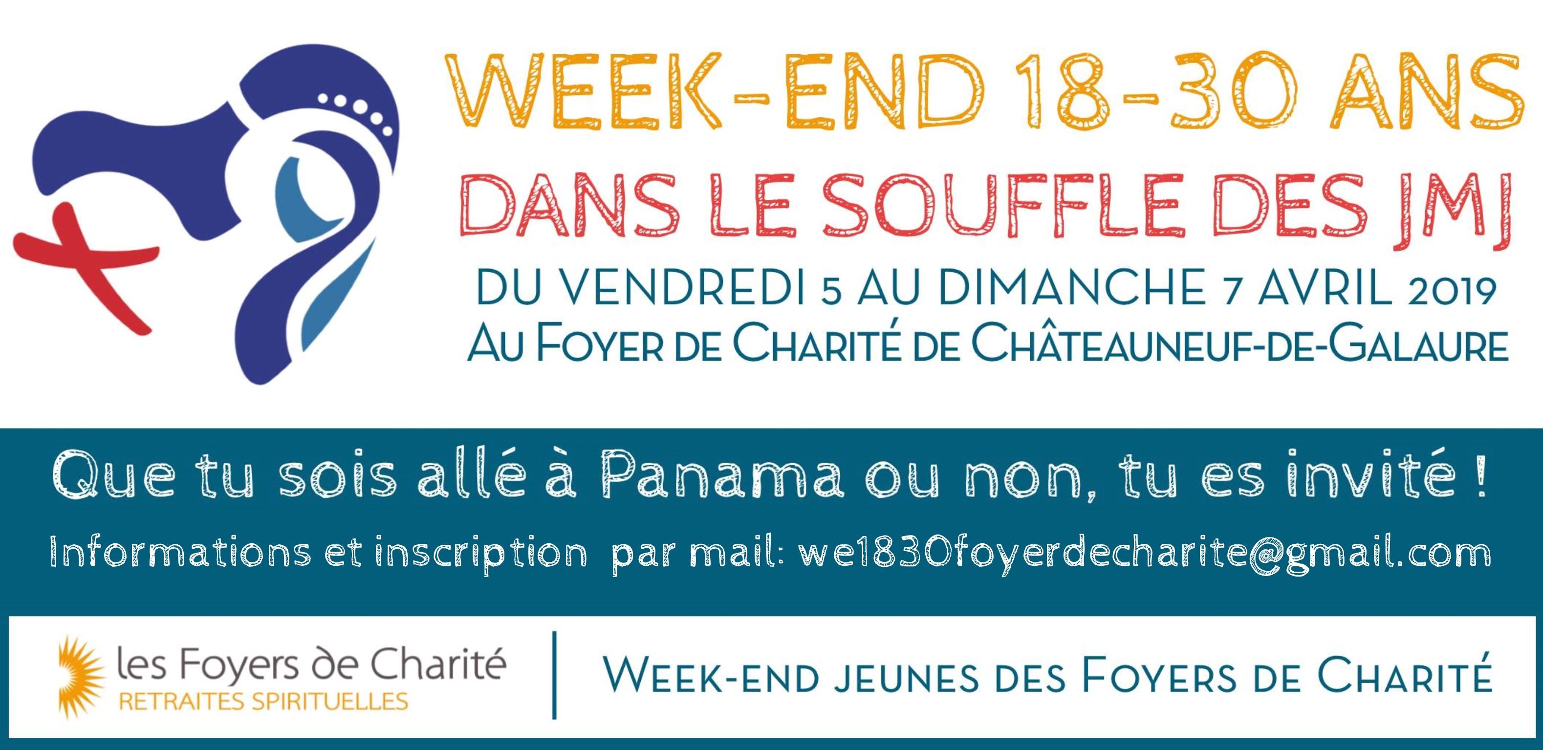 Week-end 18-30 ans dans le souffle des JMJ du 5 au 7 avril 2019 à Châteauneuf-de-Galaure (26)