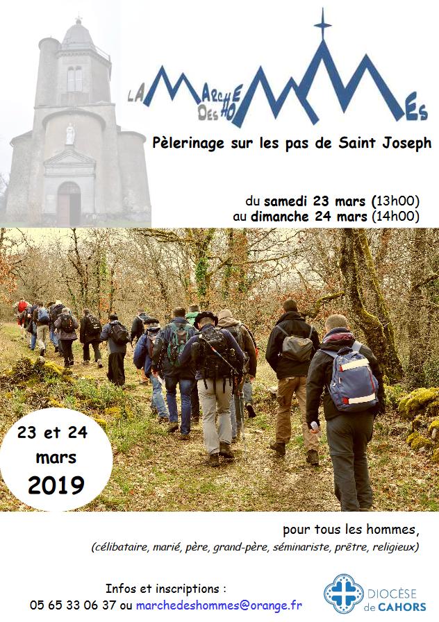 Marche des hommes à St Joseph 2019: les 23 & 24 mars 2019 à Saint-Jean-Lagineste (46)