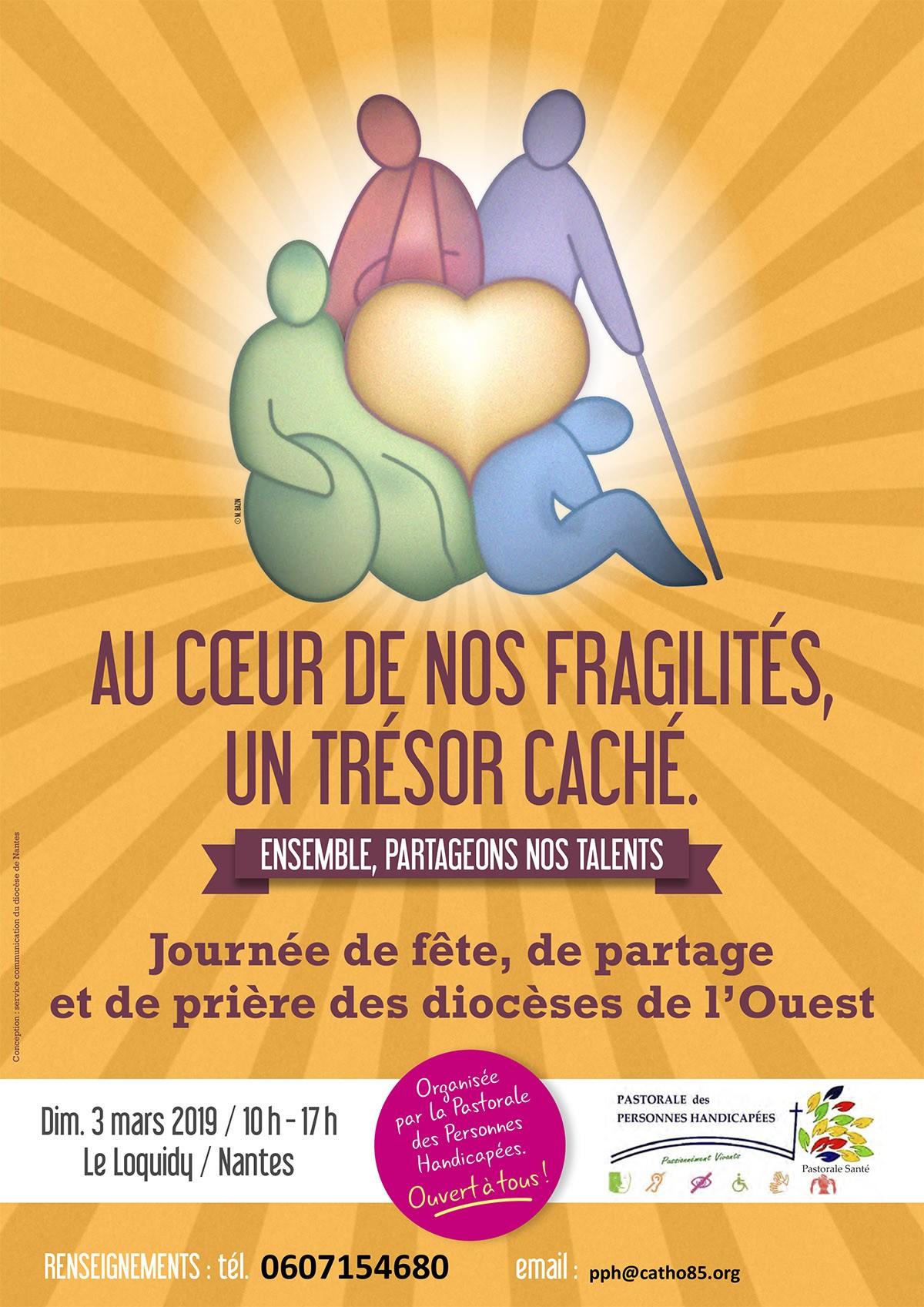 Au cœur de nos fragilités, un trésor caché – Le 3 mars 2019 à Nantes (44)