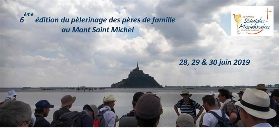 6ème édition du pèlerinage des pères de famille de la Manche au Mont Saint Michel (50) les 28, 29 & 30 juin 2019